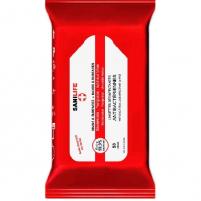 Lingettes imprégnées nettoyantes désinfectantes (Pochette de 100)