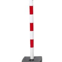 Poteau PVC S/Socle à lest Rouge et blanc